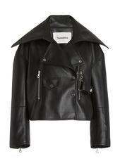 Nanushka Ado Leather Biker Jacket