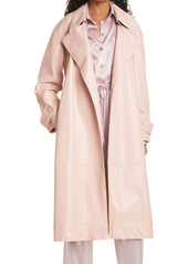 Nanushka Amal Faux Leather Trench Coat