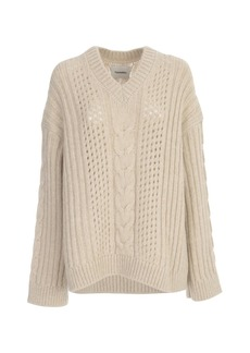 Nanushka Arwan Oversized Sweater V Neck