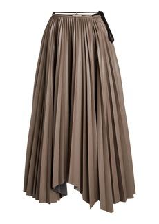 Nanushka Beeja High-Rise Plisse-Crepe Skirt