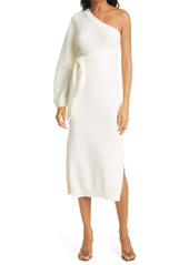 Nanushka Cedro One-Shoulder Terry Midi Dress