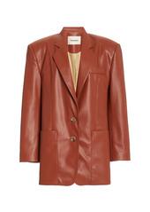 Nanushka Evan Collared Faux-Leather Blazer