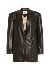 Nanushka Evan Structured Faux-Leather Blazer