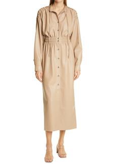 Nanushka Jayce Vegan Leather Long Sleeve Dress
