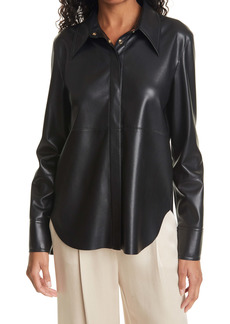 Nanushka Naum Faux Leather Shirt
