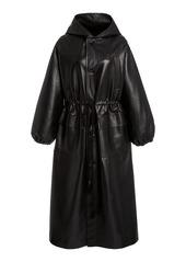 Nanushka Noki Oversized Leather-Blend Coat