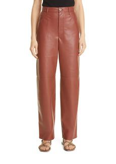 Nanushka Radha High Waist Faux Leather Pants