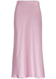 Nanushka Razi Skirt In Pink Satin