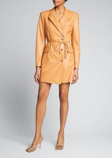 Nanushka Remi Vegan-Leather Blazer Dress