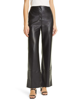 Nanushka Rhyan Wide Leg Vegan Leather Pants