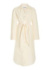 Nanushka Rowan Cotton Cutout Midi Shirt Dress