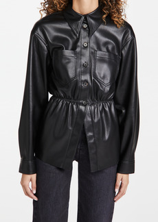 Nanushka Thalita Faux Leather Shirt