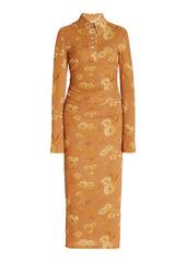 Nanushka Verity Polo Neck Midi Dress
