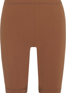 Nanushka Woman Biker Stretch Shorts Light Brown