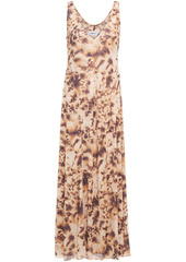 Nanushka Woman Corinne Tie-dyed Jersey Maxi Dress Light Brown