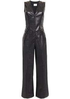 Nanushka Woman Freya Vegan Leather Jumpsuit Black