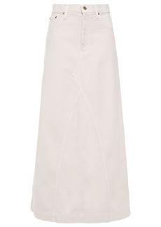 Nanushka Woman Mae Denim Maxi Skirt Light Gray