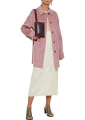 Nanushka Woman Marzy Wool And Silk-blend Felt Coat Antique Rose