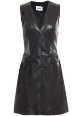 Nanushka Woman Menphi Vegan Leather Mini Dress Black
