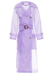 Nanushka Woman Tuscan Organza Trench Coat Lavender