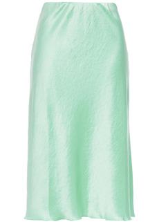 Nanushka Woman Zarina Crinkled Washed-satin Skirt Mint