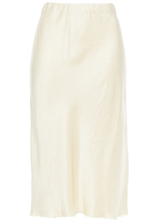 Nanushka Woman Zarina Crinkled Washed-satin Skirt Pastel Yellow