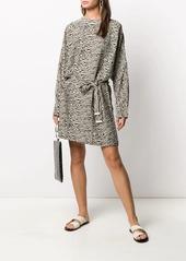 Nanushka Heirro oversized belted mini dress