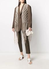 Nanushka open-knit draped waistcoat
