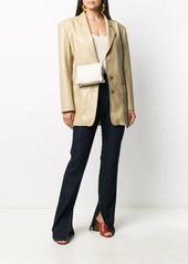 Nanushka oversized faux leather blazer