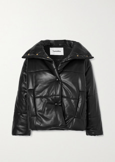 Nanushka Quilted Vegan Leather Jacket