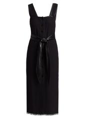 Nanushka Rita Tie-Waist Apron Dress