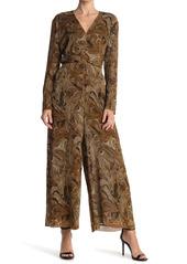 Nanushka Ruched Front Printed Maxi Jumpsuit