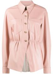 Nanushka ruched shirt jacket