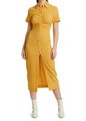 Nanushka Sabri Textured Midi Shirtdress