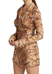 Nanushka Tess Snakeskin Print Mini Dress