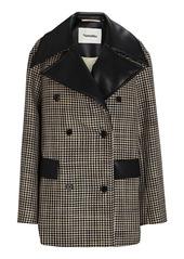 Nanushka Tommi Double-Breasted Houndstooth Jacket