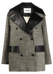 Nanushka Tommi houndstooth coat