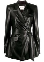 Nanushka wrap faux-leather jacket