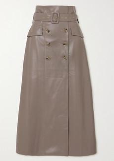 Nanushka Zane Belted Vegan Leather Skirt