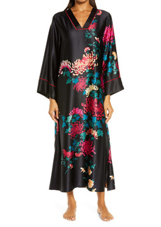Natori Chrysanthemum Satin Nightgown