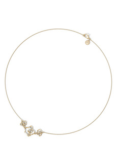 Natori Sakura Diamond Flower Pendant Necklace