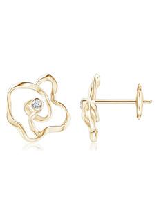 Natori Sakura Diamond Flower Stud Earrings