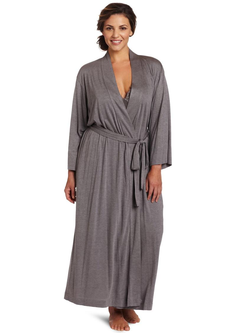 Natori Women's Plus Size Shangri-la Solid Knit Robe