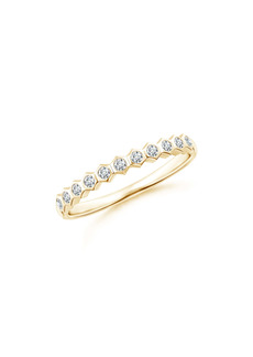 Natori Fine Jewelry Hexagonal Diamond Band