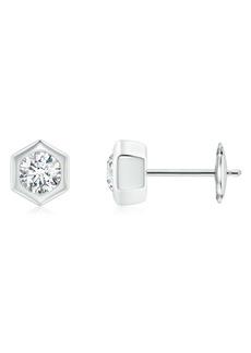 Natori Fine Jewelry Hexagonal Small Diamond Stud Earrings