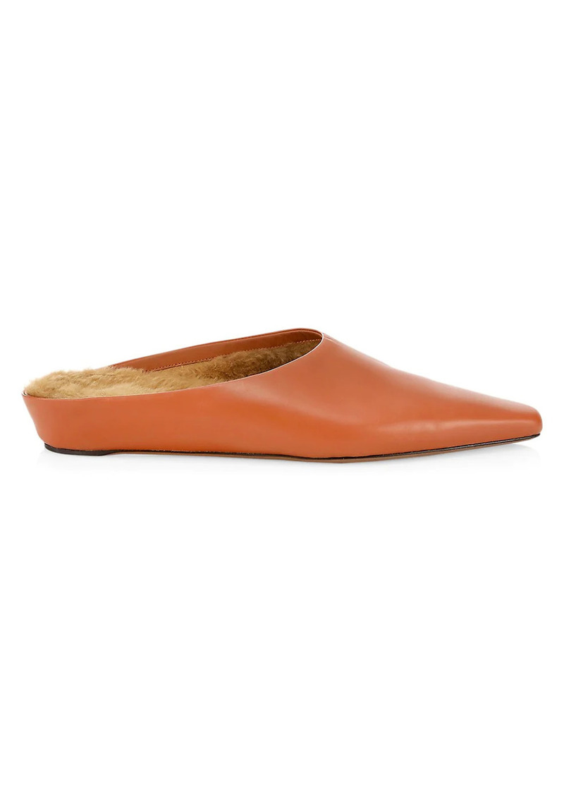 Neous Alba Shearling-Lined Leather Mules