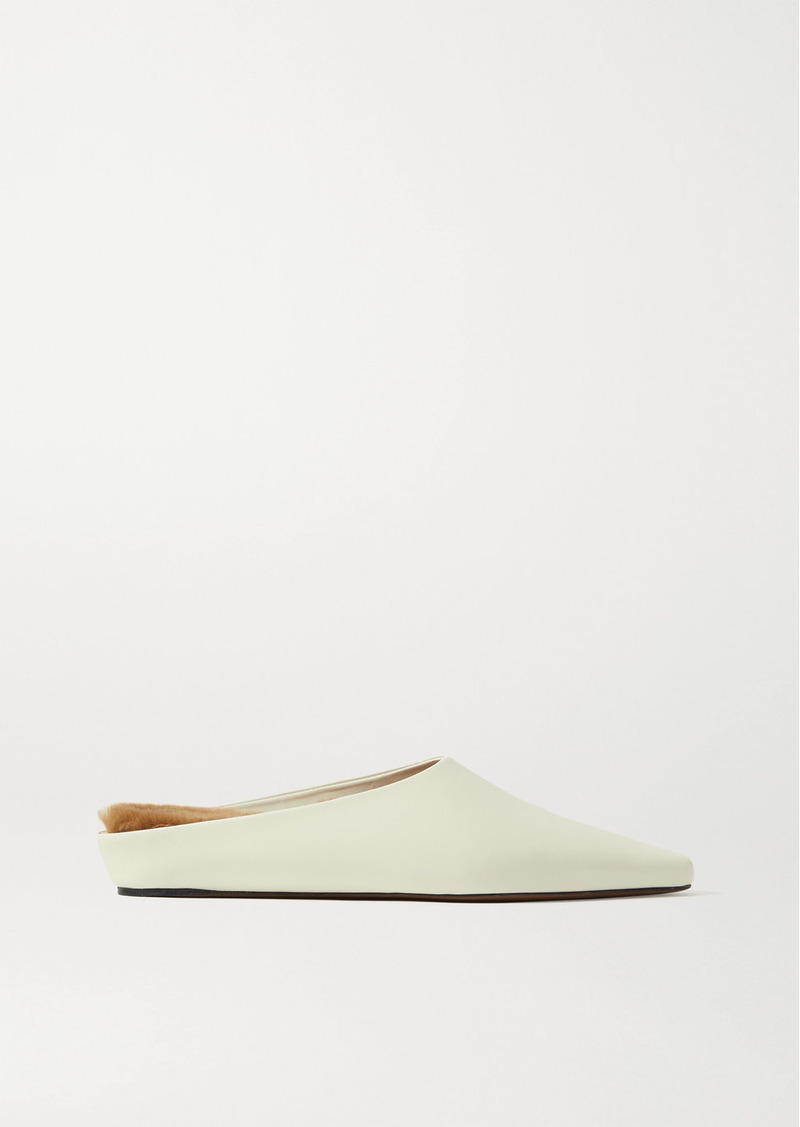 Neous Net Sustain Alba Shearling-lined Leather Slippers