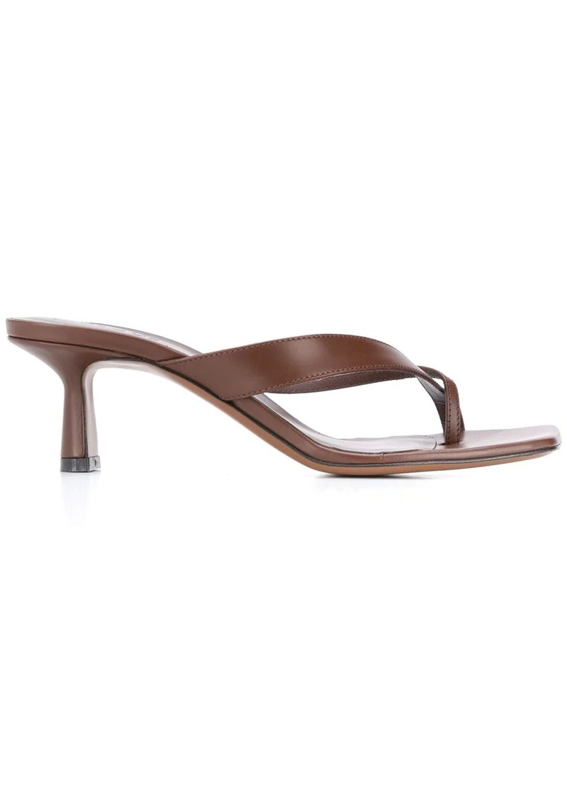 Neous Florae leather 55mm sandals