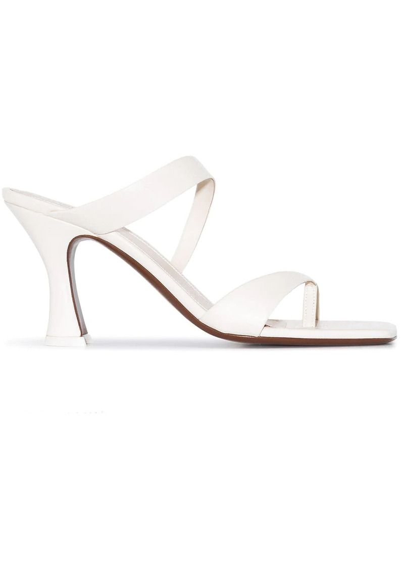 Neous leather T-bar strap 80mm sandals