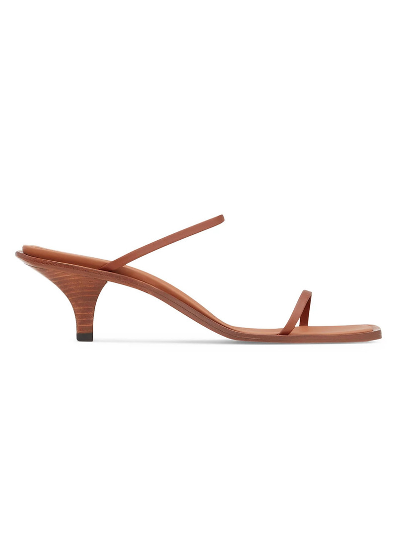 Neous Leather Wood-Heel Mules